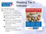 reading tier ii indicator1