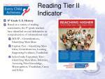 reading tier ii indicator3