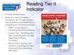 reading tier ii indicator4
