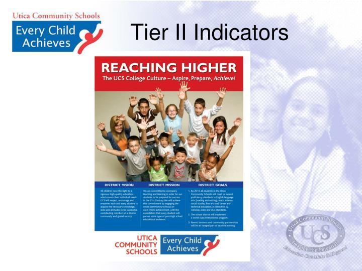 Tier II Indicators