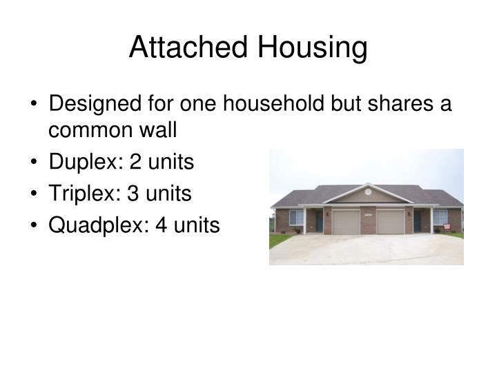 Attached Housing
