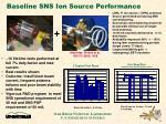 baseline sns ion source performance