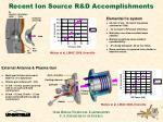 recent ion source r d accomplishments