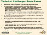 technical challenges beam power