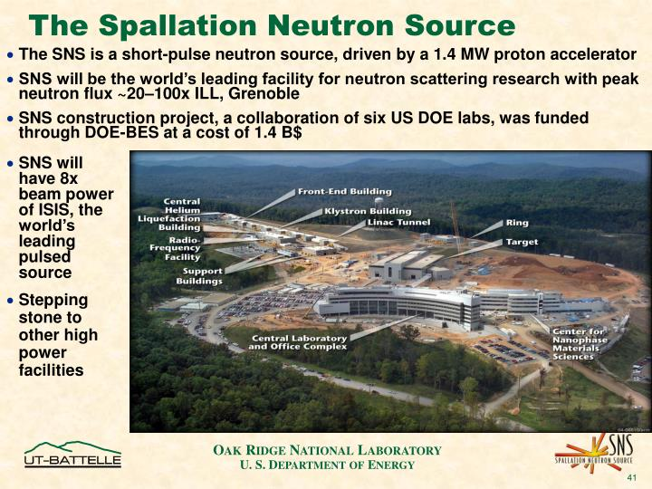 The Spallation Neutron Source