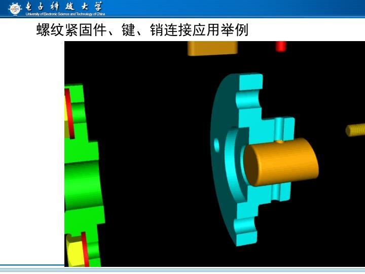 螺纹紧固件、键、销连接应用举例
