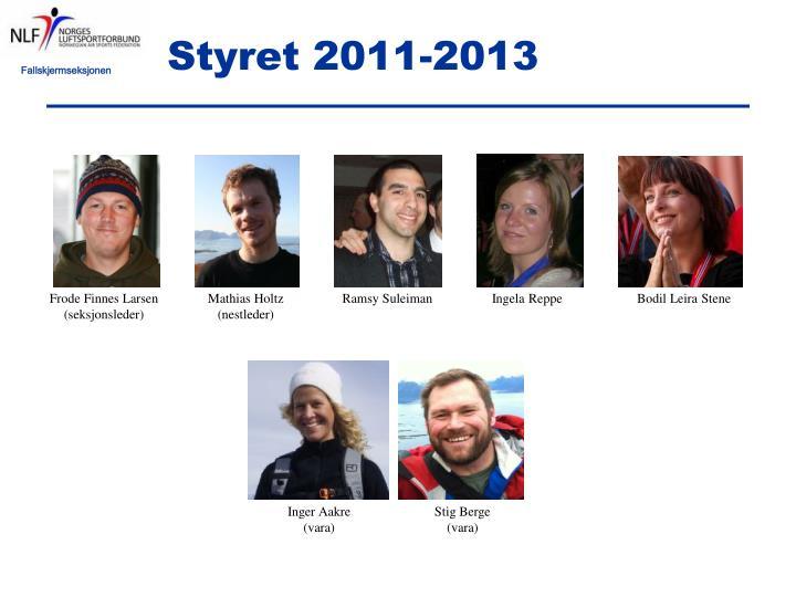 Styret 2011-2013