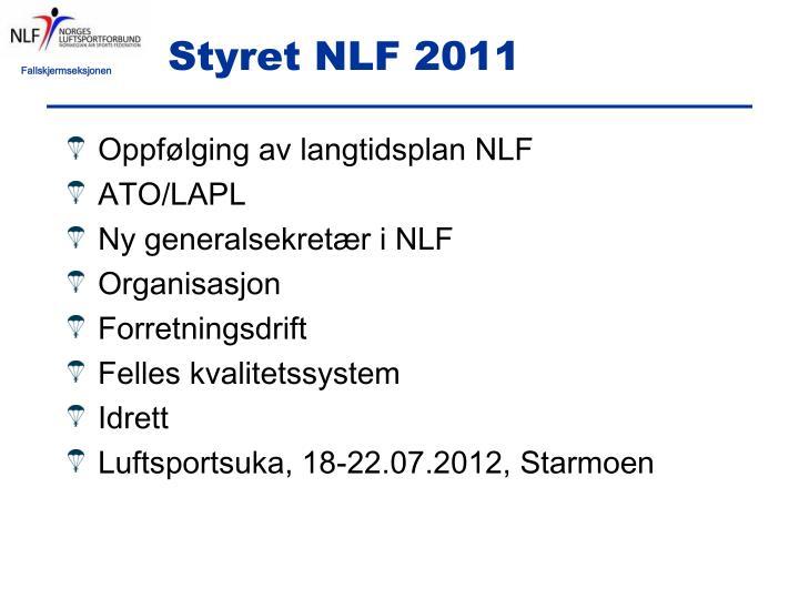 Styret NLF 2011