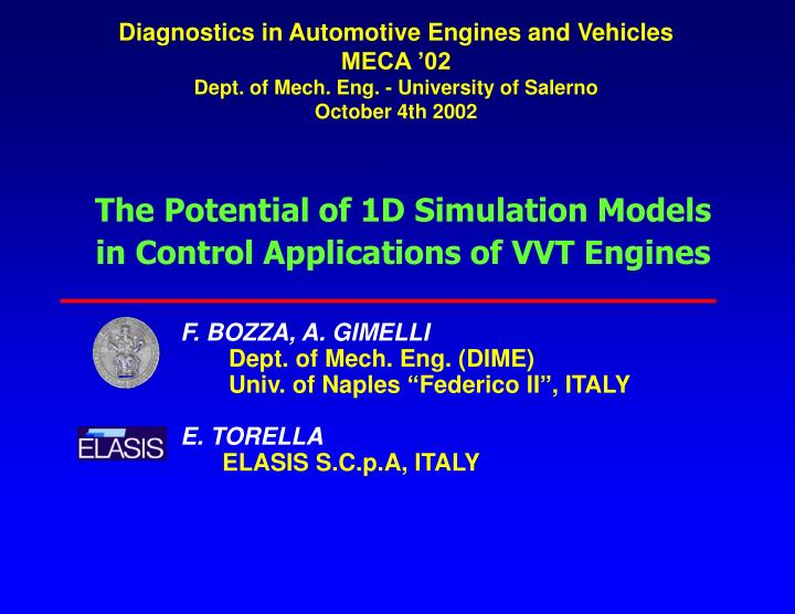 Diagnostics in Automotive Engines and Vehicles