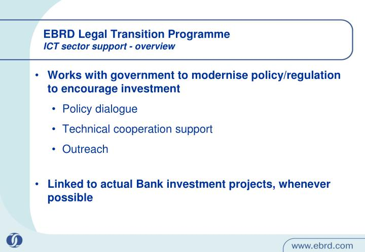 EBRD Legal Transition Programme