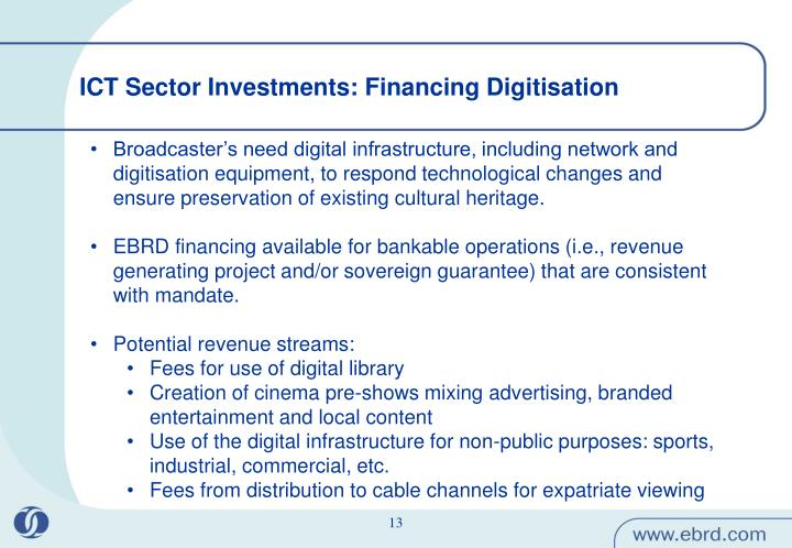 ICT Sector Investments: Financing Digitisation