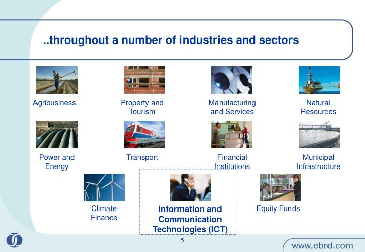 ..throughout a number of industries and sectors