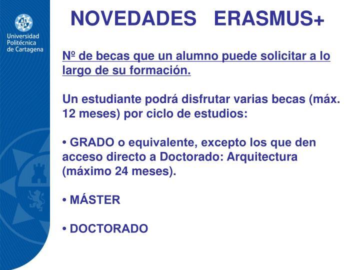 NOVEDADES   ERASMUS+