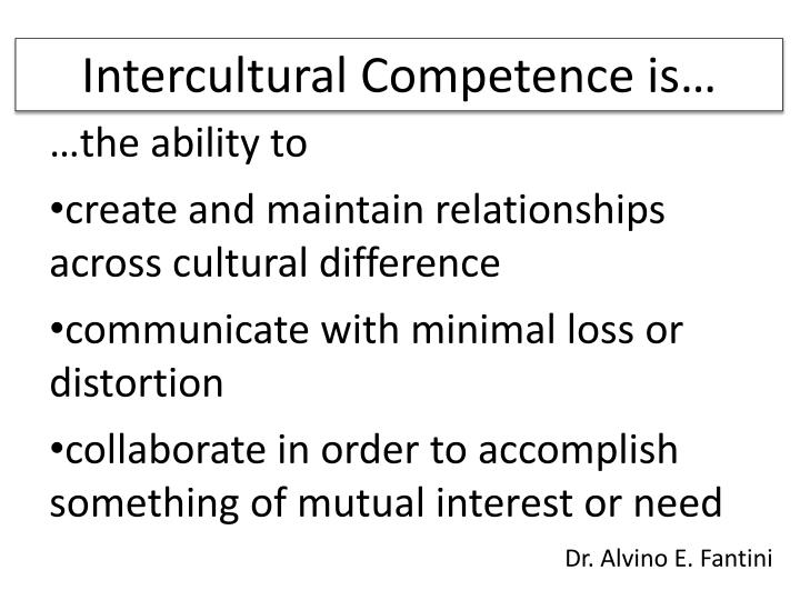 Intercultural Competence is…