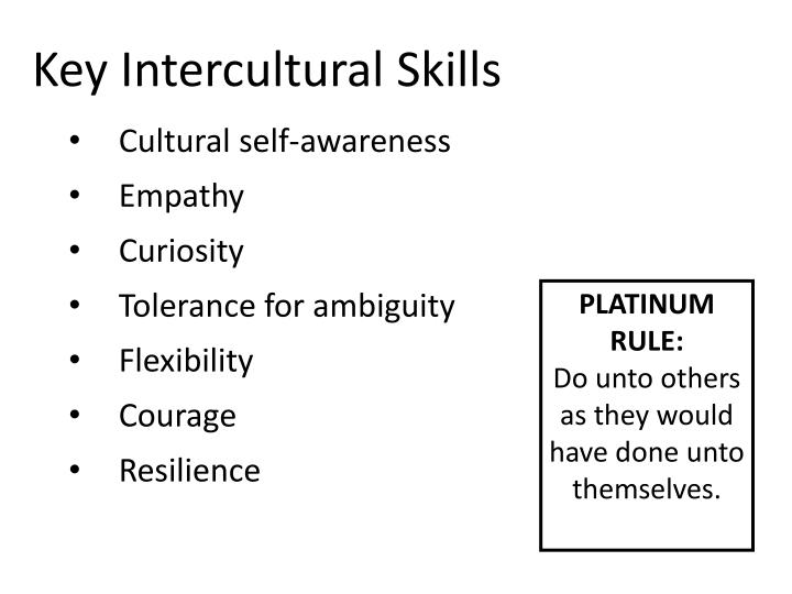 Key Intercultural Skills