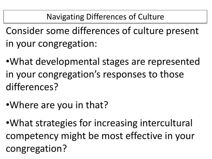 Navigating Differences of Culture