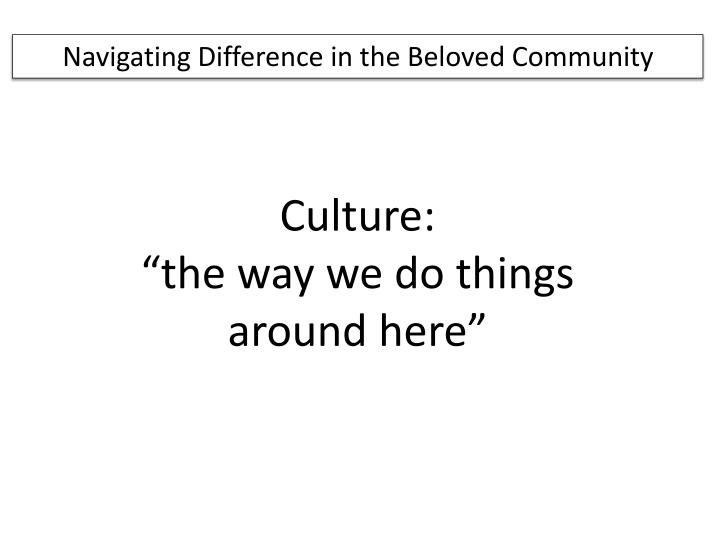 Navigating Difference in the Beloved Community