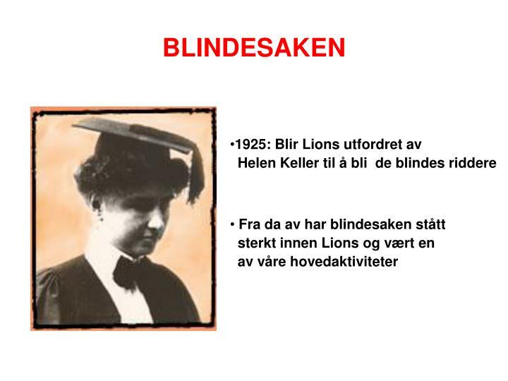 BLINDESAKEN