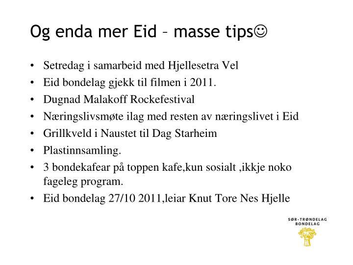 Og enda mer Eid – masse tips