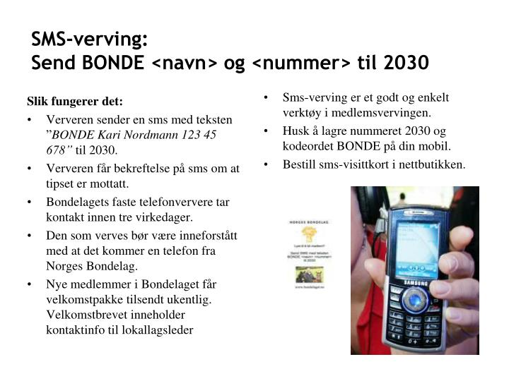 SMS-verving: