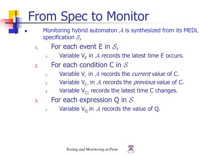 From Spec to Monitor
