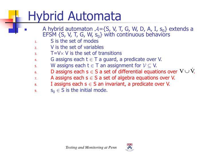 Hybrid Automata