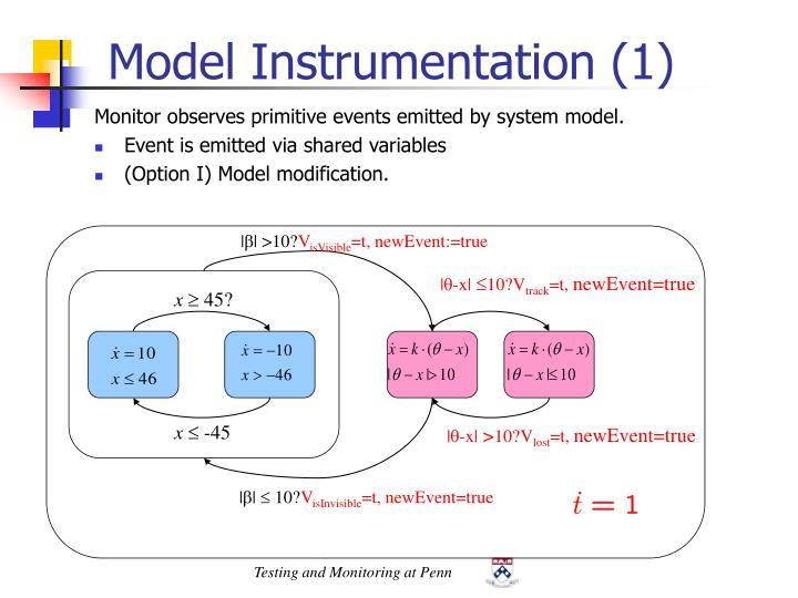 Model Instrumentation (1)