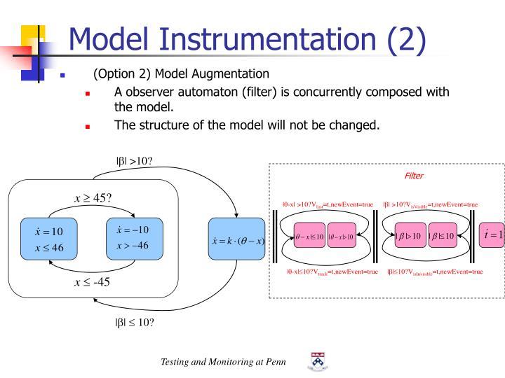 Model Instrumentation (2)