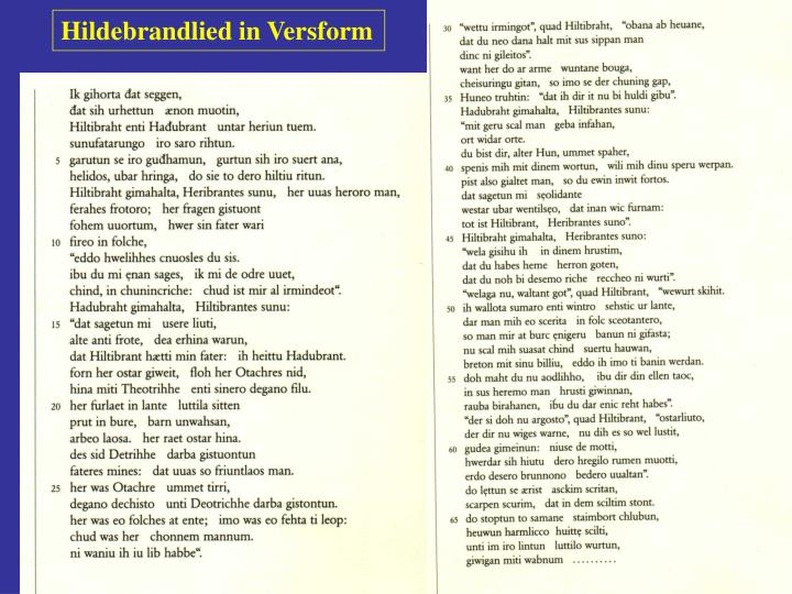 Hildebrandlied in Versform