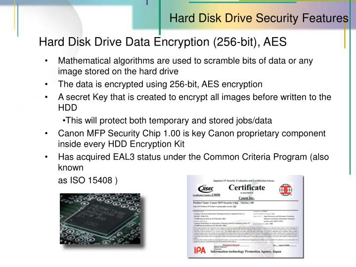 Hard Disk Drive Security Features