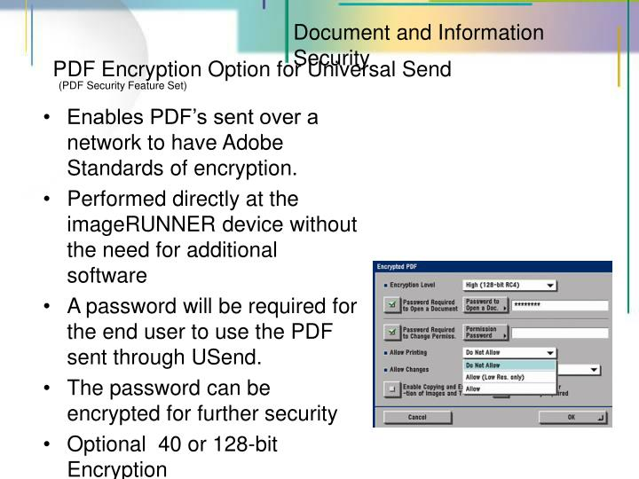 Document and Information Security