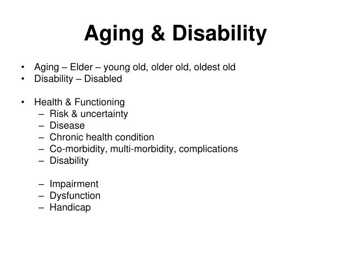 Aging & Disability