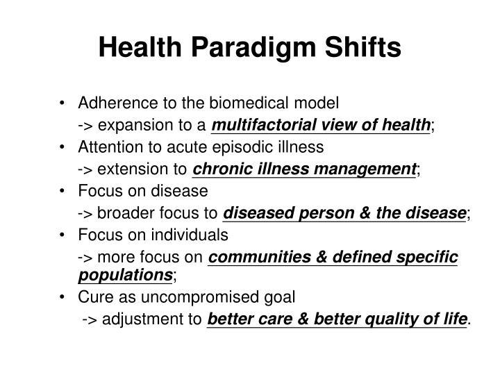 Health Paradigm Shifts