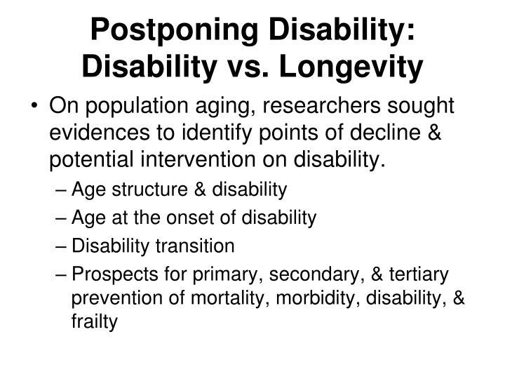Postponing Disability: