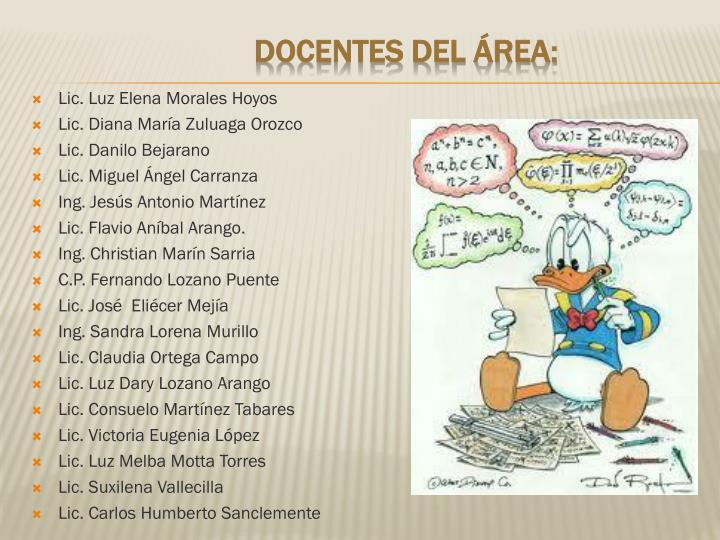 Lic. Luz Elena Morales Hoyos