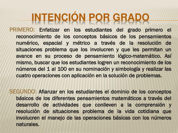 PRIMERO: