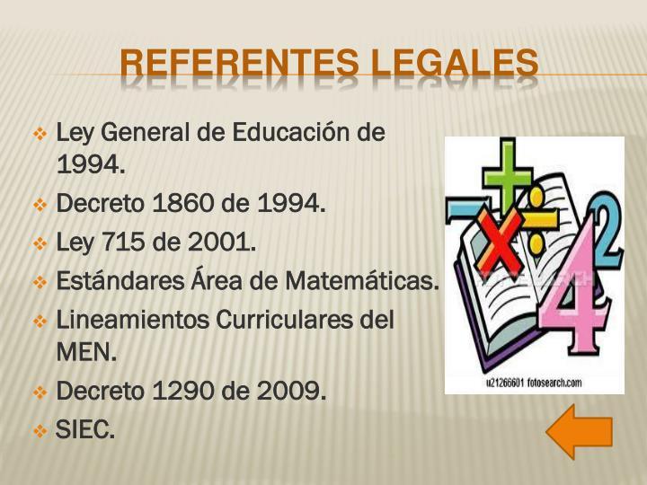 Ley General de Educación de 1994.