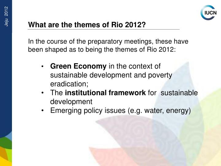 What are the themes of Rio 2012?