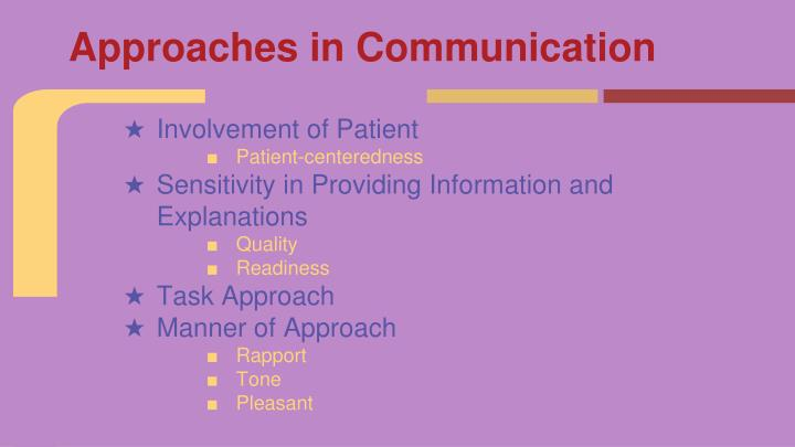 Approaches in Communication