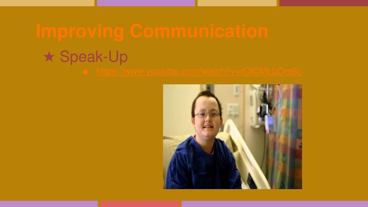 Improving Communication