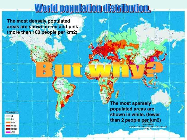 World population distribution.