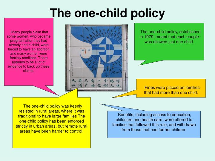 The one-child policy