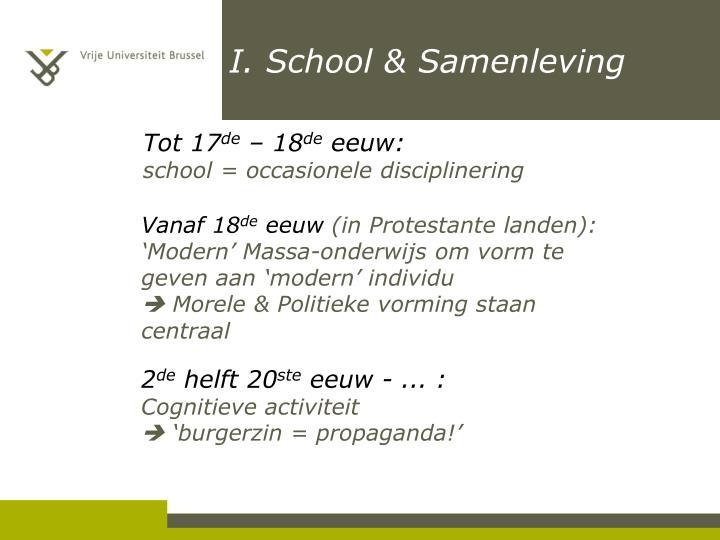 I. School & Samenleving