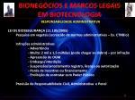 bioneg cios e marcos legais em biotecnologia14
