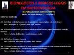 bioneg cios e marcos legais em biotecnologia15