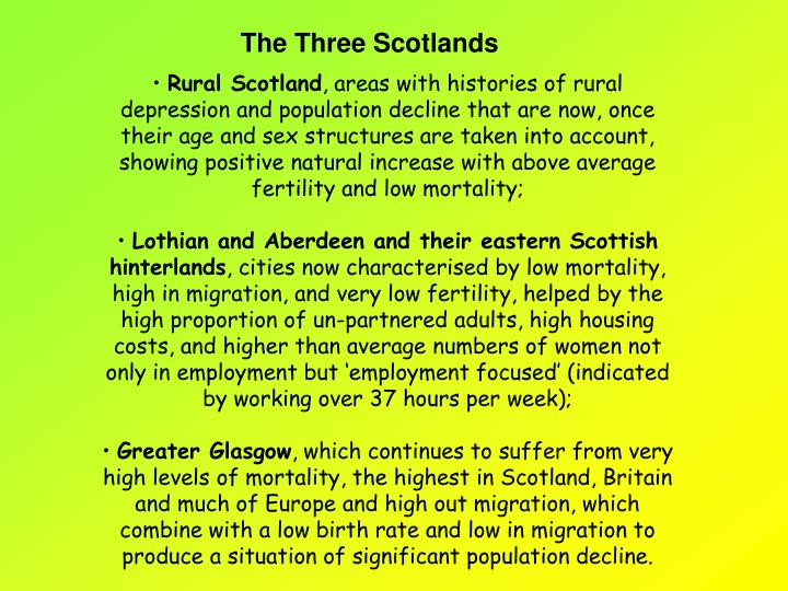 The Three Scotlands