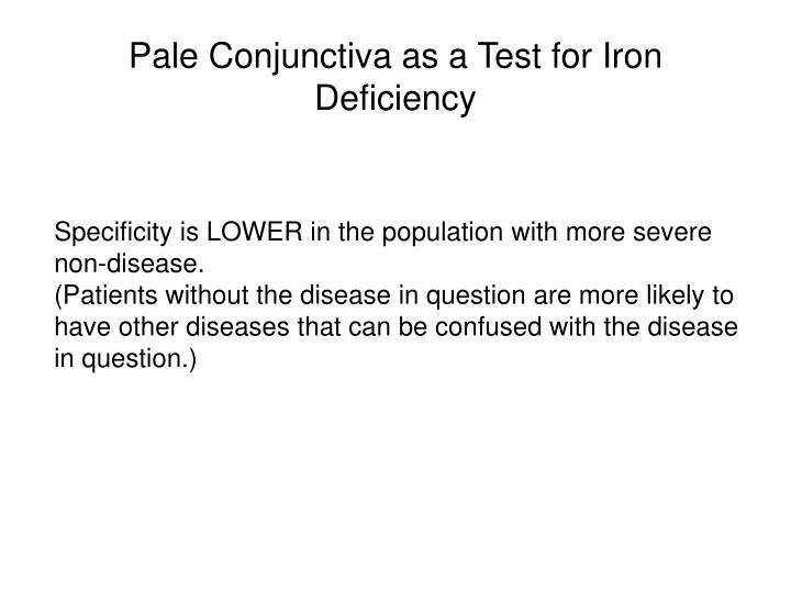 Pale Conjunctiva as a Test for Iron Deficiency