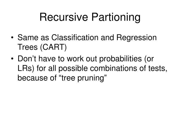 Recursive Partioning