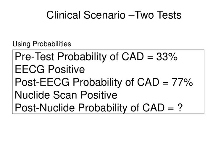 Pre-Test Probability of CAD = 33%