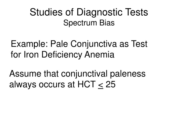 Studies of Diagnostic Tests